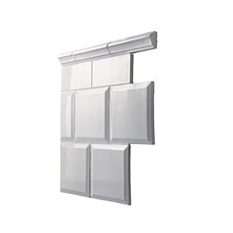 Gysingekakel fasad kant, 0,5 kvm