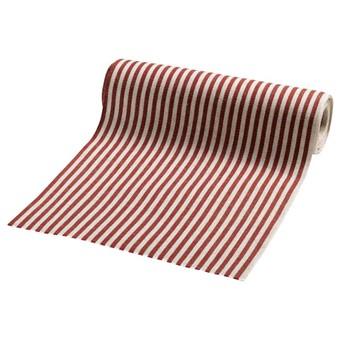 Rullgardinstyg rödrandig, per meter