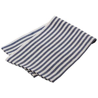 Handduk blårandig