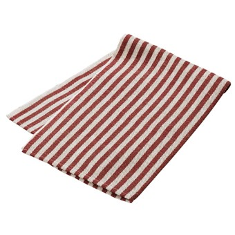 Handduk rödrandig