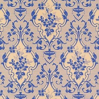 Tapet Nästgårds, blå