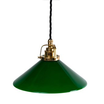 Skomakarlampa grön 25 cm, svart sladd