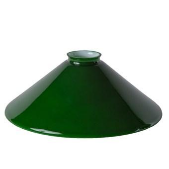 Lampskärm, opalglas 25 cm, Grön