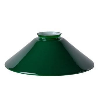 Lampskärm, opalglas, 20 cm, Grön