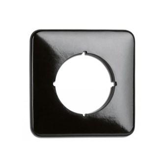 Bakelit, enkelram - kvadratisk, svart